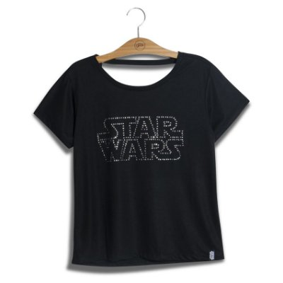 Camiseta Feminina Swarovski Logo Star Wars