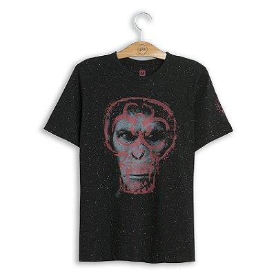 Camiseta Planeta dos Macacos Caesar Skull