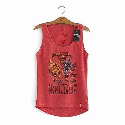 Camiseta Feminina Homem de Ferro Marvel