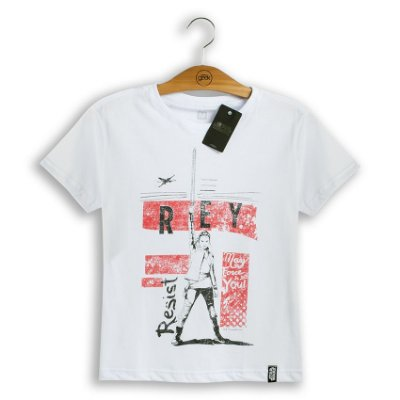 Camiseta Feminina Star Wars Rey Resist