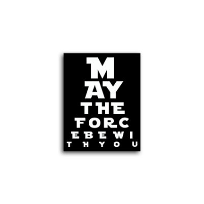 Placa Star Wars May The Force