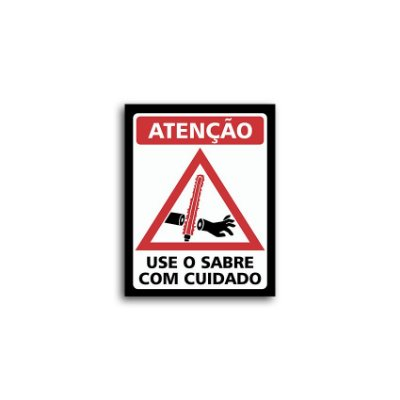 Placa Star Wars Use O Sabre