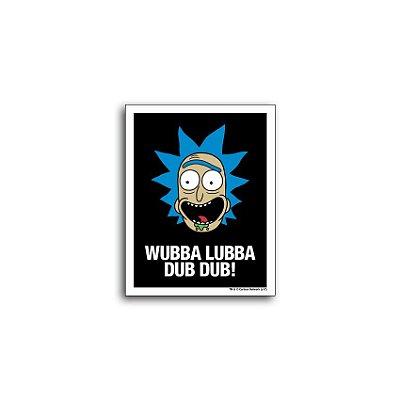 Placa Rick And Morty Wubba Lubba Dub Dub!