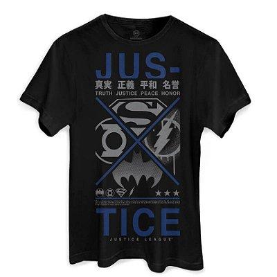 Camiseta DC Liga Da Justiça Justice