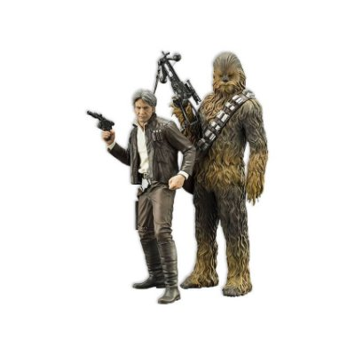 Estátua Star Wars VII Han Solo & Chewbacca