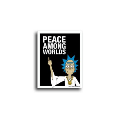Placa Rick And Morty Peace Among Worlds