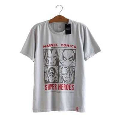 Camiseta Marvel Comics Rostos