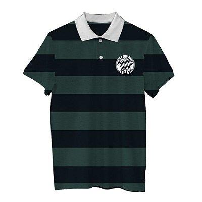 Camiseta Polo Regra Quem Chuta Busca