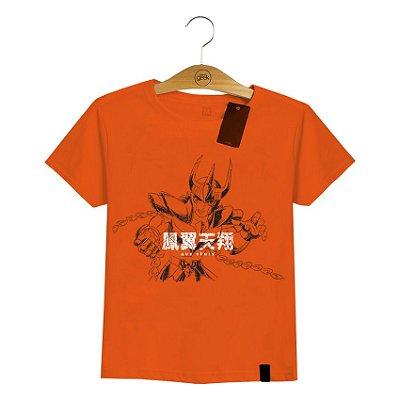 Camiseta Feminina Cavaleiros do Zodíaco Golpe Ikki