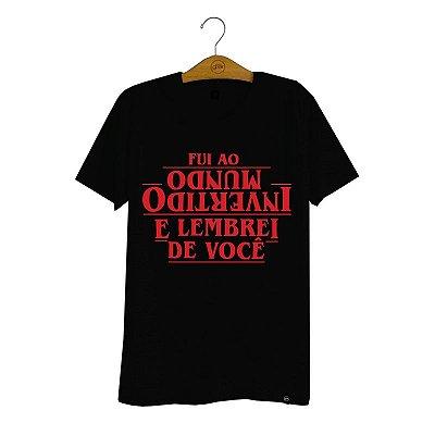 Camiseta Stranger Things Mundo Invertido
