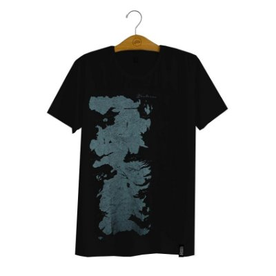 Camiseta Game Of Thrones Mapa de Westeros
