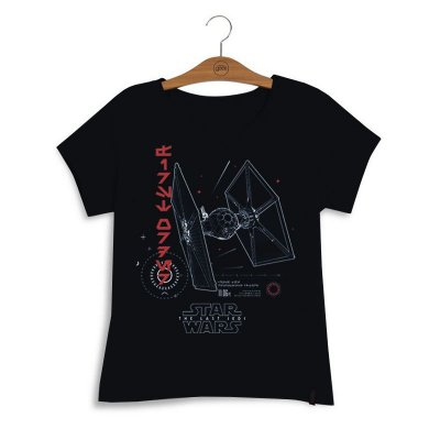 Camiseta Feminina Star Wars Tie Fighter First Order