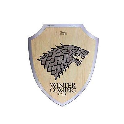 Placa Escudo Game Of Thrones Stark Winter Is Coming