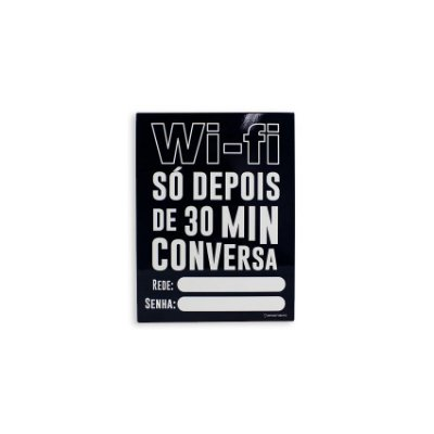 Placa Com Caneta Wi-Fi Após 30 Min