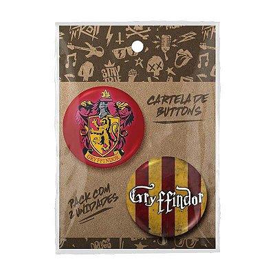 Pack Bottons Harry Potter Grifinória