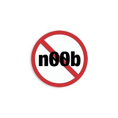 Placa Proibido Noob