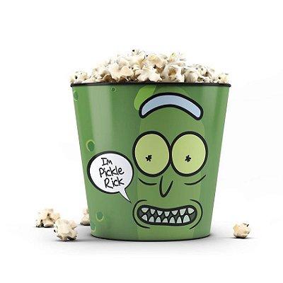 Balde de Pipoca Rick And Morty Pickle Rick