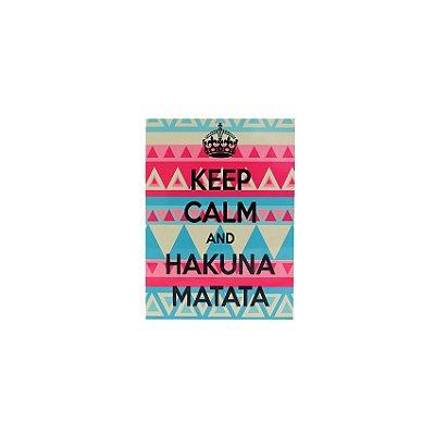 Placa Keep Calm And Hakuna Matata