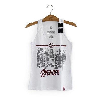 Camiseta Feminina Vingadores Faixas Marvel