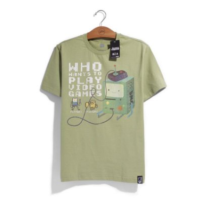 Camiseta Cartoon Network Hora de Aventura BMO 8 Bits