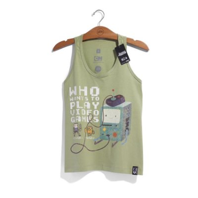 Camiseta Feminina Cartoon Network Hora de Aventura BMO 8 Bits
