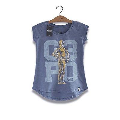 Camiseta Feminina Star Wars C3PO