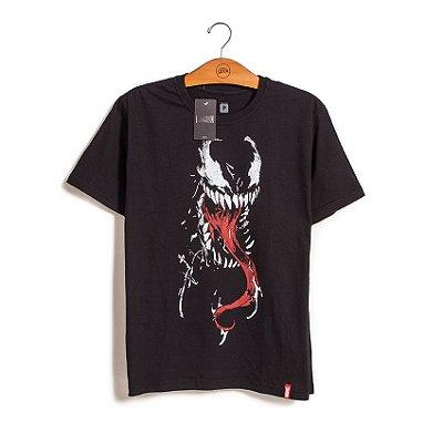 Camiseta Venom Face Marvel