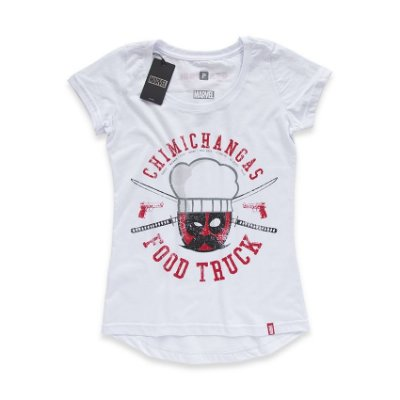 Camiseta Feminina Deadpool Chimichangas