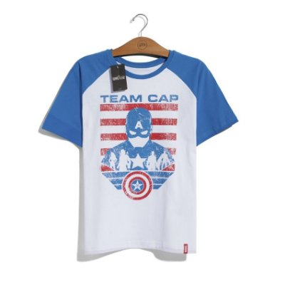 Camiseta Marvel Guerra Civil Time Capitão América