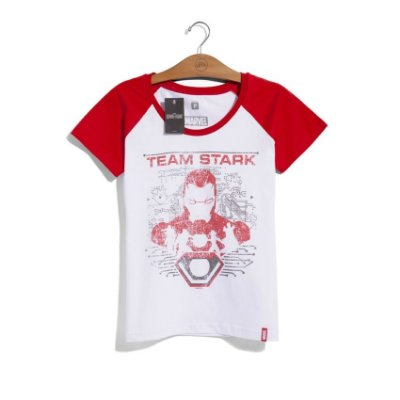 Camiseta Feminina Marvel Team Stark