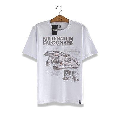 Camiseta Star Wars Millennium Falcon Branca