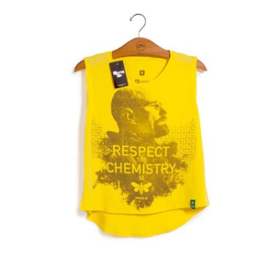 Camiseta Feminina Breaking Bad Respect the Chemistry