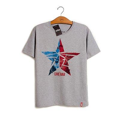Camiseta Marvel Guerra Civil Estrela