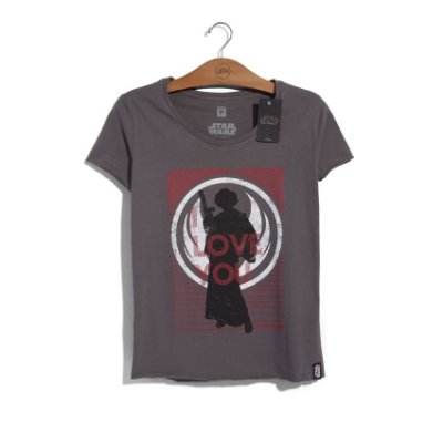 Camiseta Star Wars Leia I Love You