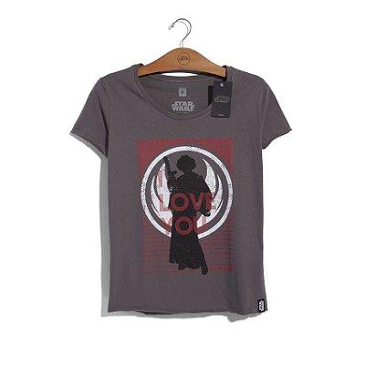 Camiseta Feminina Star Wars Leia I Love You
