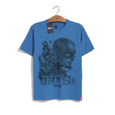 Camiseta Marvel Guerra Civil Freedom