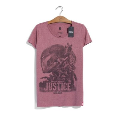 Camiseta Feminina Marvel Team Iron Man Justice