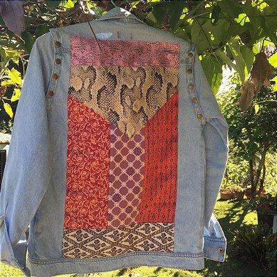colete e jaqueta jeans com patchwork | metropolitan | coleteria in the city