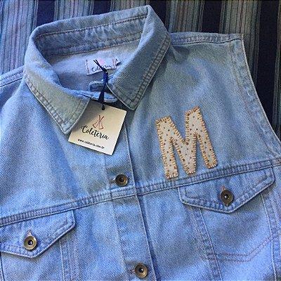 letras | monte o seu colete | a compra das letras terá que ser vinculada à compra de um jeans coleteria