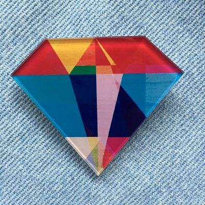 pins | diamante colorido | coleteria