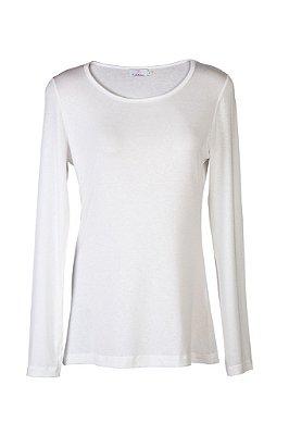 blusa básica | gola careca branca | coleteria