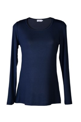 blusa básica | gola careca azul | coleteria