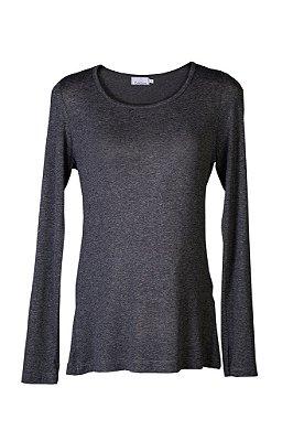 blusa básica | gola careca grafite | coleteria