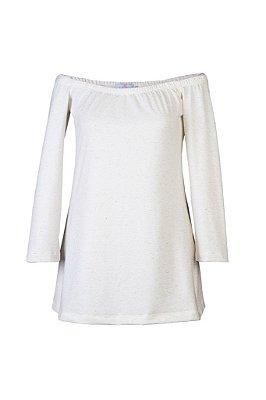 blusa básica | ombro a ombro off white | coleteria