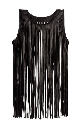 colete de couro com franjas | black is beautiful | coleteria