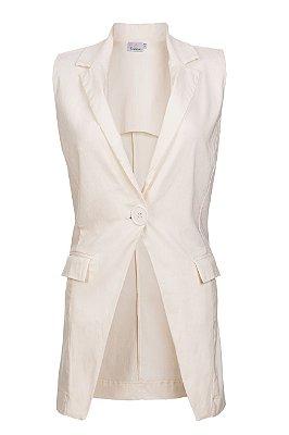 colete blazer alfaiataria | retrato em off white | coleteria
