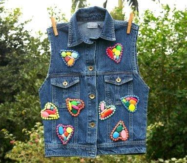 colete jeans bordado | jacarta | coletânea mundo