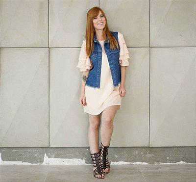 colete jeans dupla face | oito ou oitenta | coletânea santa do pau oco