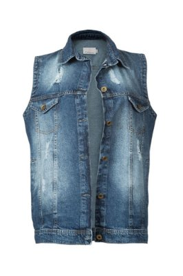 colete jeans destroyed | meatpacking district escuro | coleteria in the city