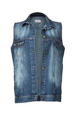colete jeans | manhattan escuro | coleteria in the city